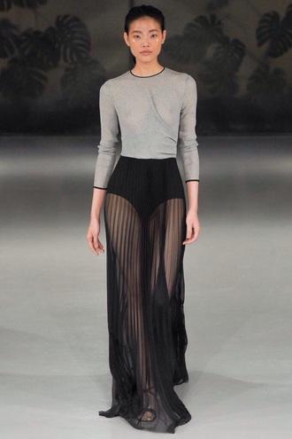 dress pleated skirt grey t-shirt skirt sheer black maxi skirt black skirt sheer skirt maxi skirt long black white lace mesh mesh maxi skirt mesh skirt