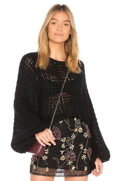 Raga sweater knit crochet black