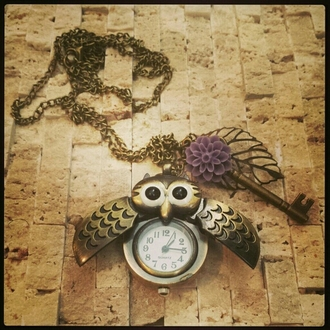 jewels necklace owl owl necklace