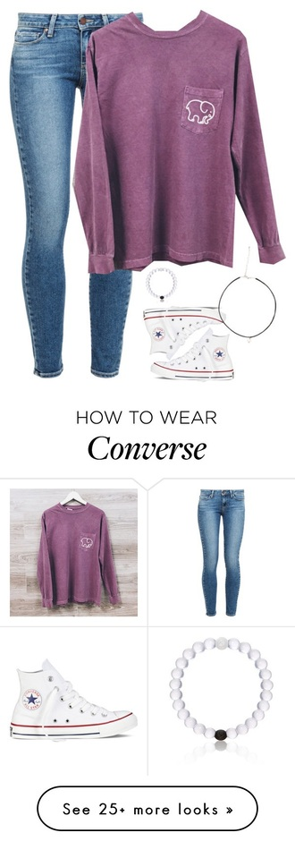 shoes converse high top converse white sneakers purple sweater skinny jeans jeans