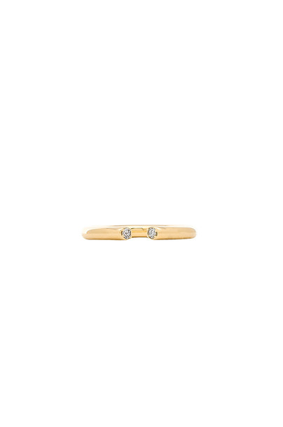 Elizabeth and James Obi Ring in gold / metallic