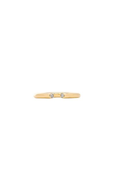 Elizabeth and James ring metallic gold