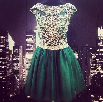 green gold diamonds green dress