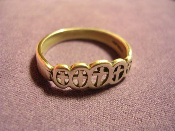 jewels christian ring christian cross crosses gold ring ring