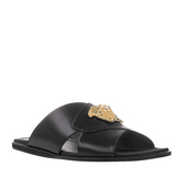 shoes,versace palazzo leather flip flops