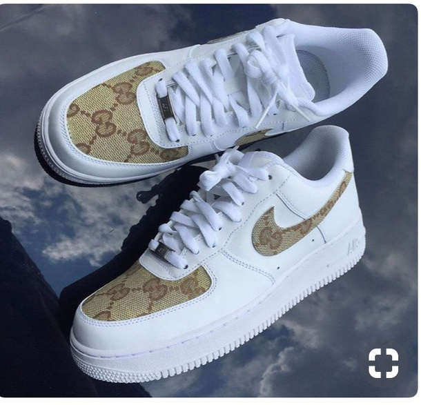 new products aa07a 927be shoes sneakers gucci nike air force 1 instagram white nike