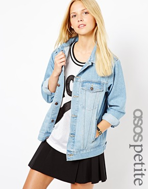 Petite | ASOS PETITE Denim Jacket In Oversized Boyfriend Fit at ASOS