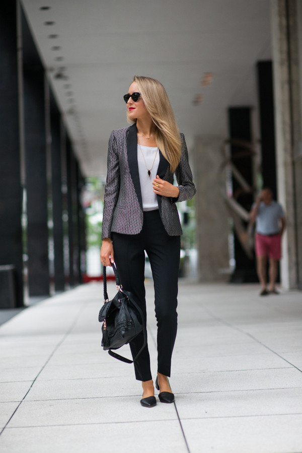 the classy cubicle jacket top shoes bag jewels sunglasses