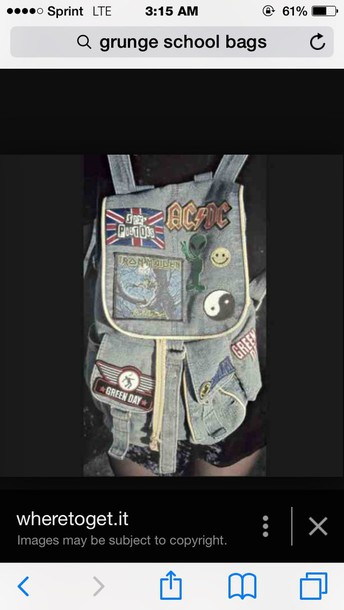 bag grunge grunge grunge school bag