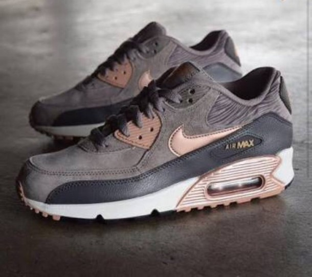 new style d334d cca45 shoes nike air max 90 suede sneakers nike grey grey sneakers