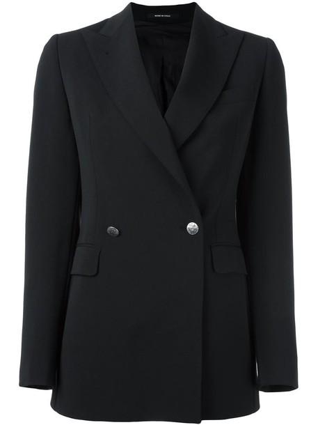 TAGLIATORE blazer women spandex black jacket