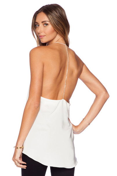 Amanda Uprichard top back shell white