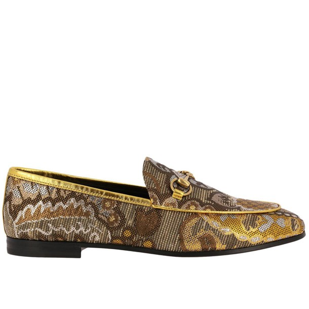 women shoes loafers gold