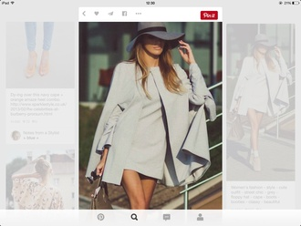 jacket grey grey coat cape fashion classy