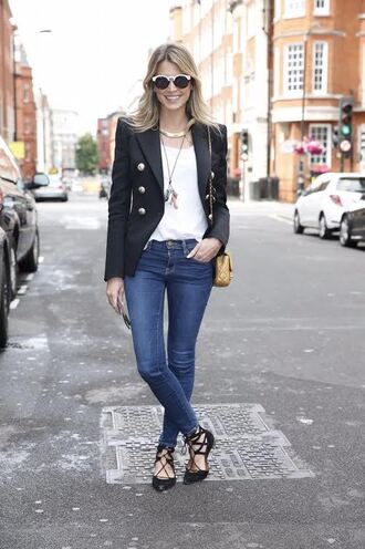 helena bordon blogger jeans black blazer