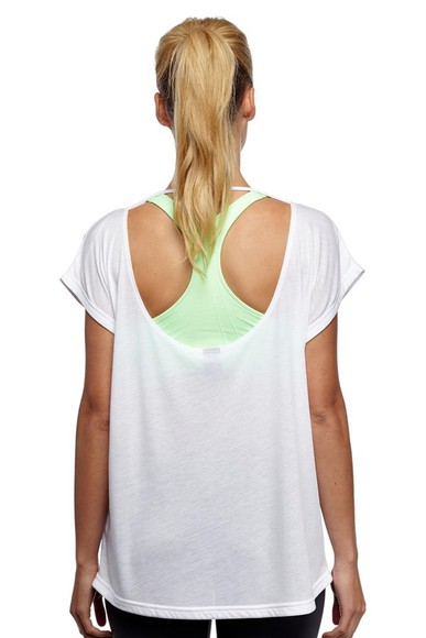 open back white top shirt cute