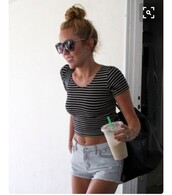 t-shirt,miley cyrus,cute,summer,summer outfits,fashion,top