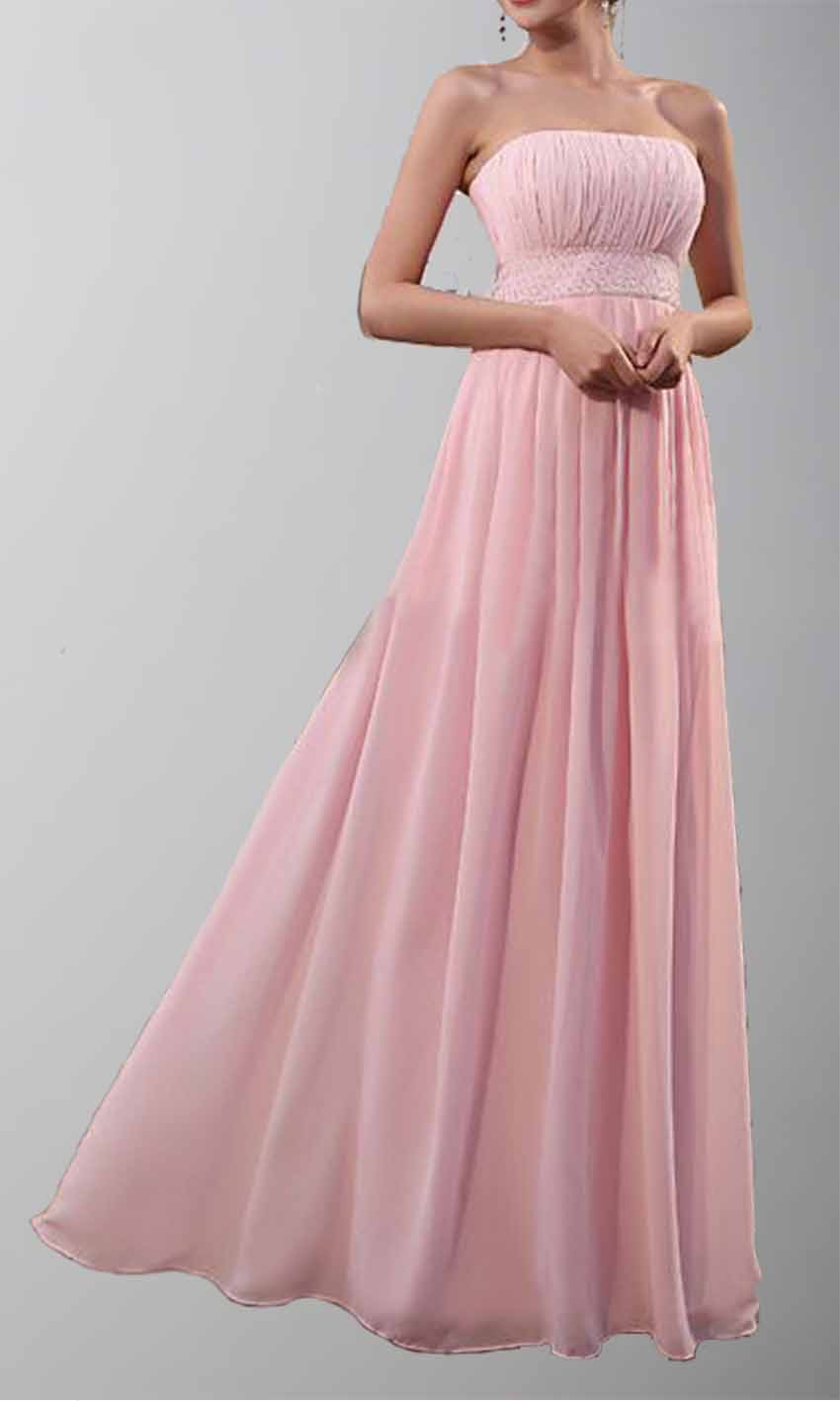 Pink Strapless A-line Long Chiffon Bridesmaid Dress KSP155 [KSP155] - £89.00 : Cheap Prom Dresses Uk, Bridesmaid Dresses, 2014 Prom & Evening Dresses, Look for cheap elegant prom dresses 2014, cocktail gowns, or dresses for special occasions? kissprom.co.uk offers various bridesmaid dresses, evening dress, free shipping to UK etc.