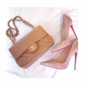 shoes nude chanel sexy my babies louboutin