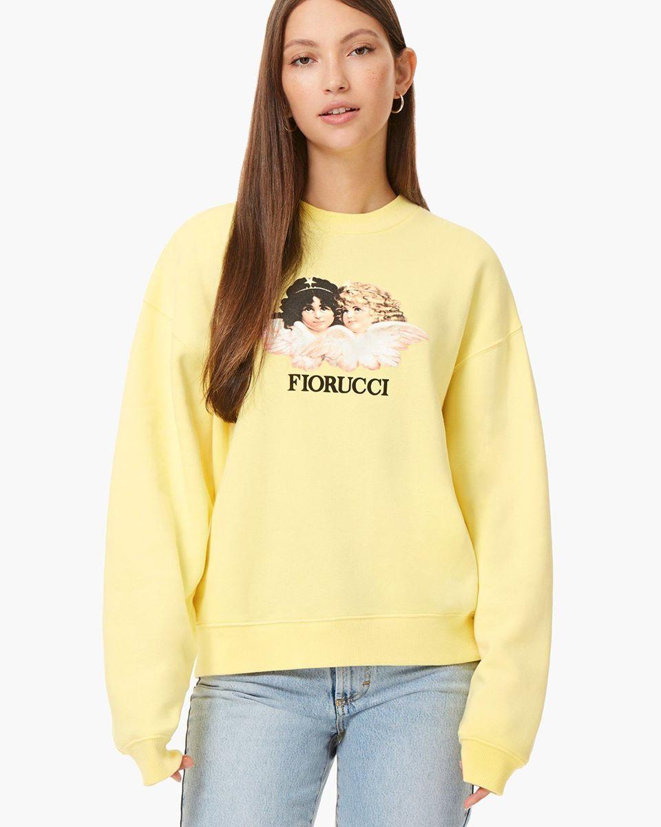Vintage Angels Sweatshirt Lemon Yellow
