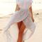 Off the shoulder split maxi dress|disheefashion