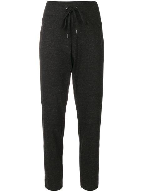 Cambio pants track pants women spandex black wool