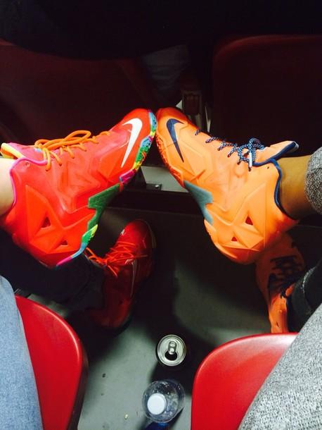shoes lebrons fruity pebbles atomic orange cute sneakerhead edit tagsFruity Pebbles Lebrons