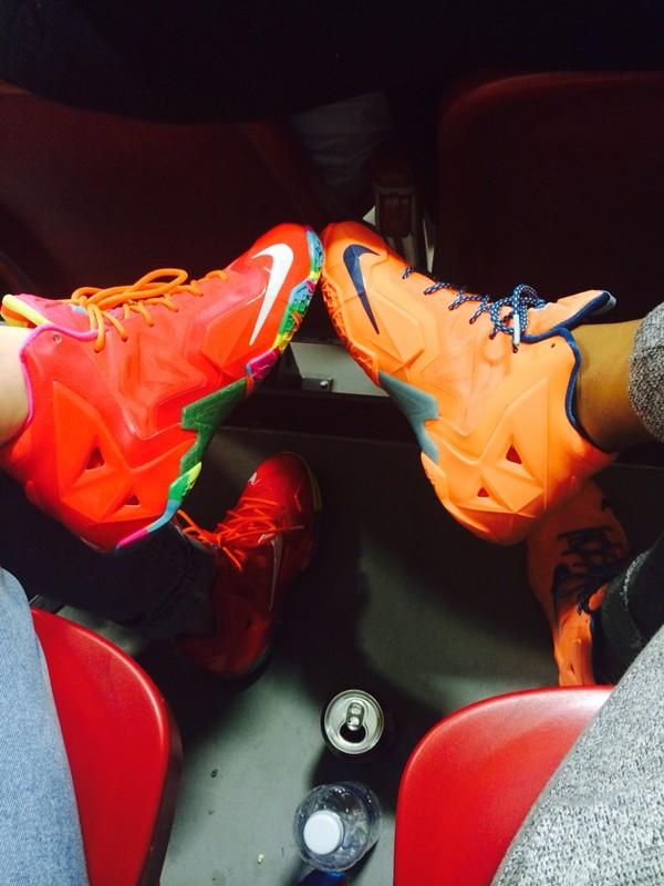 shoes lebrons fruity pebbles atomic orange cute sneakerhead