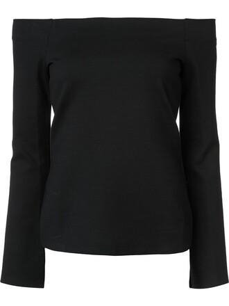 blouse knit women spandex black top