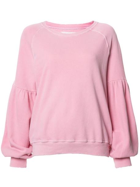 The Great sweatshirt women fit cotton purple pink sweater