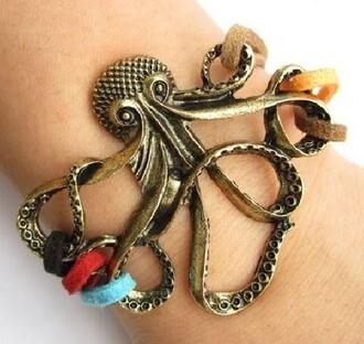 jewels bracelets cool octopus