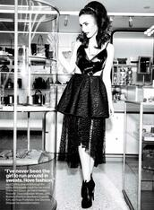 dress,glamour,pretty,lily collins