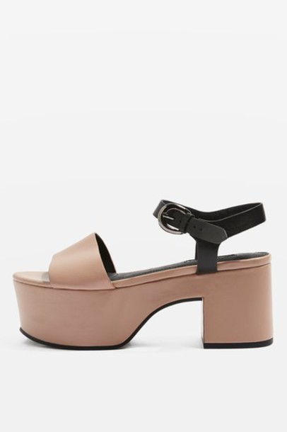 sandals flatform sandals nude shoes
