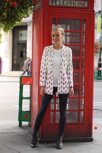 jolie janine blogger jacket top shoes jewels