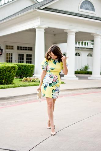 champagne&citylights blogger dress jewels bag shoes blue dress mini dress pumps summer dress summer outfits