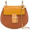 Chloé nano drew crossbody bag, women's, brown, calf leather/calf suede