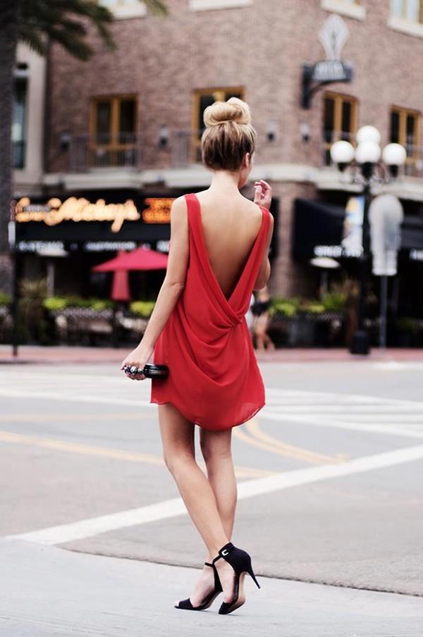dress icifashion ici fashion open back open back dresses red dress