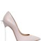 120mm blade bow leather pumps