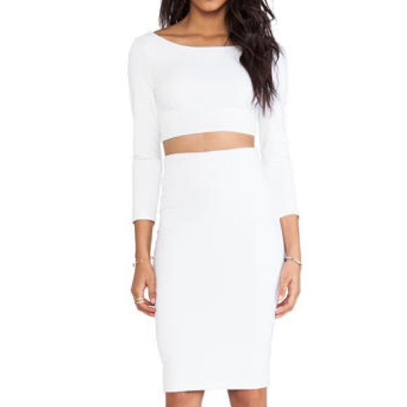 33% off David Lerner Dresses & Skirts - Opaque white DAVID LERNER skirt from Hana's closet on Poshmark