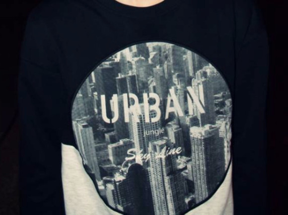 hipster sweater urban sweater skyline