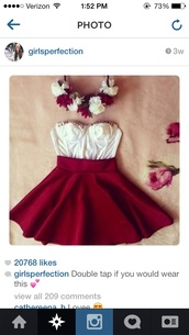 hair accessory,christmas theme,red skirt,where can i get everything,flower crown