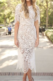 dress,white,lace