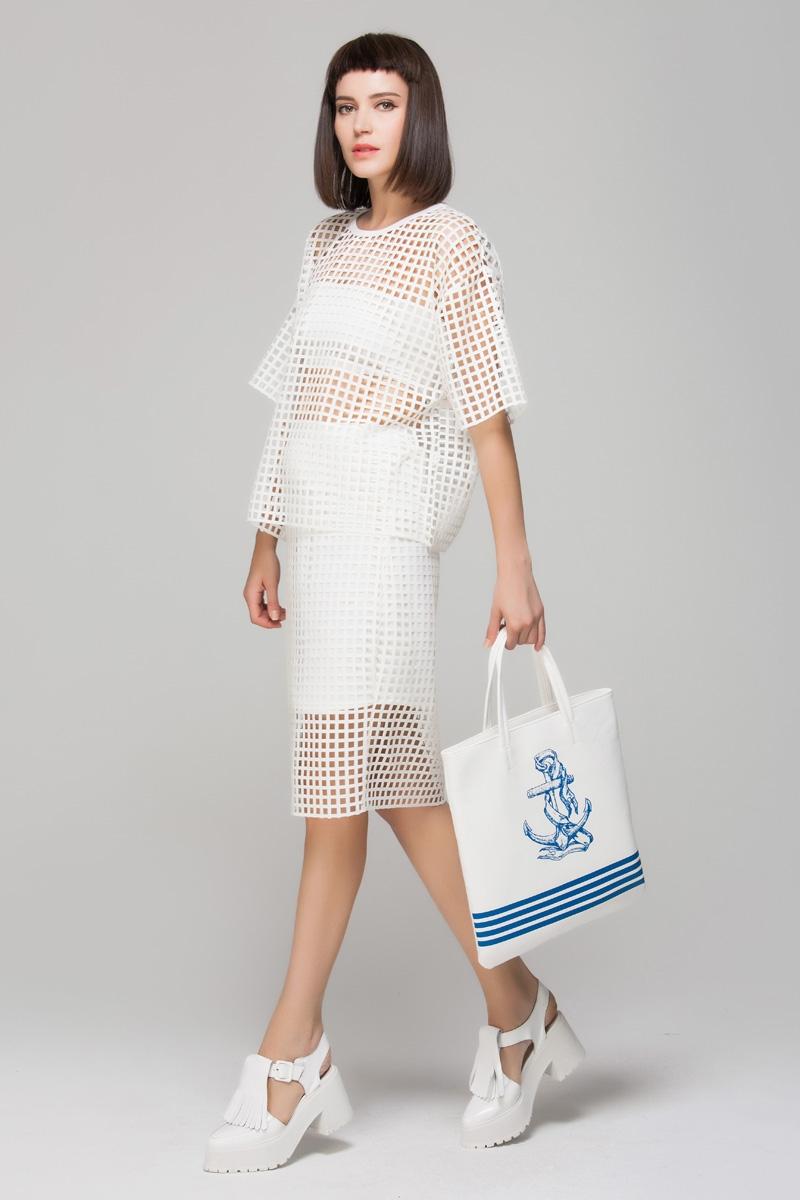 Nautical shopper bag