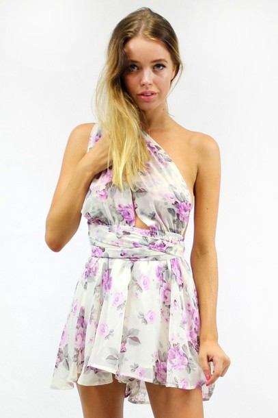 romper lilac playsuit lilac romper adjustable straps floral romper free  flowing lined elastic waist www. 527ad7f77