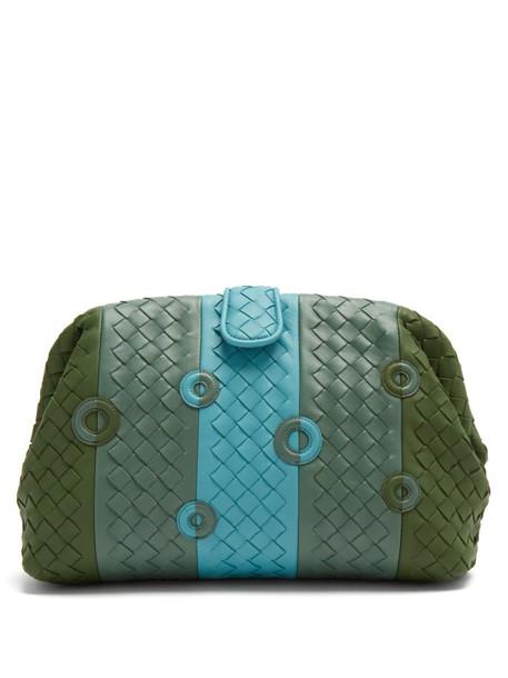 Bottega Veneta leather clutch clutch leather green bag
