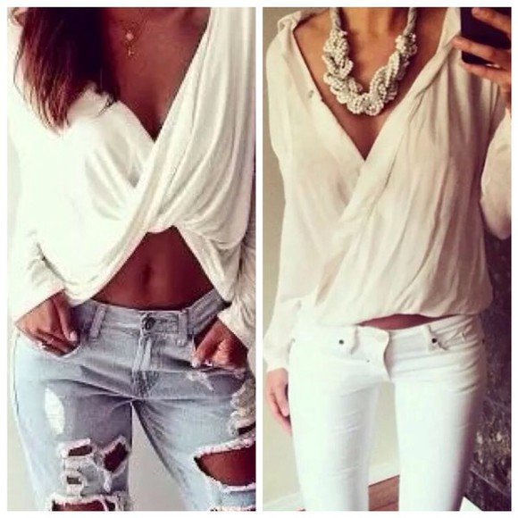 denim shirt outfit bag jewels deep v deep asymmetric bustier corset bra bralette t-shirt crochet party style jeans sun beach summer outfits crop top bustier white white t-shirt white crop tops laced up lace up ripped jeans skinny pants white crop top