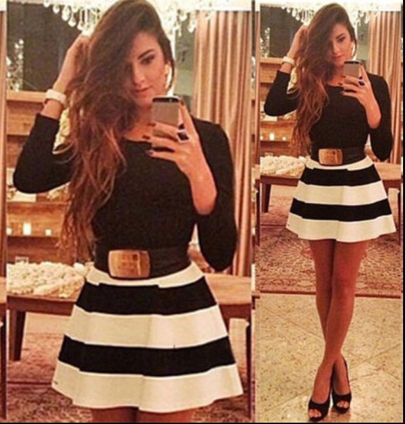 dress black and white dress style