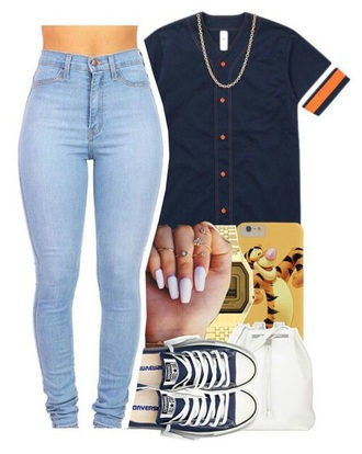 shirt jersey jeans