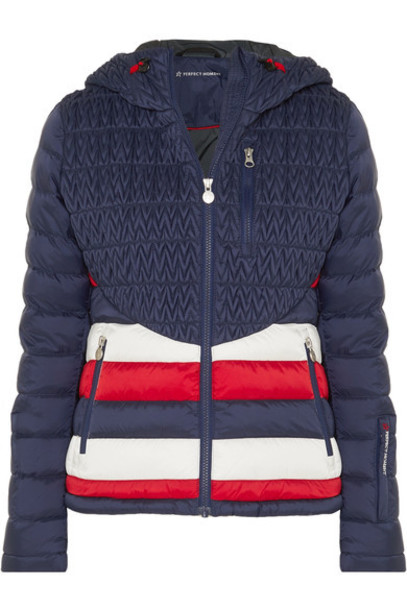 Perfect Moment jacket quilted blue