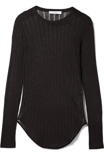 Iro top metallic black knit